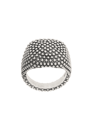 Nove25 Dotted Oval Signet ring - Silver