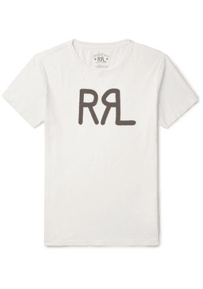RRL - Slim-fit Logo-print Cotton-jersey T-shirt - White