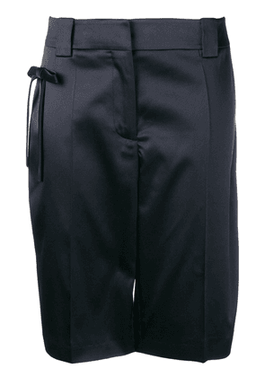 Prada bow Bermuda shorts - Blue