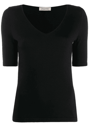 Gentry Portofino V-neck sweater - Black