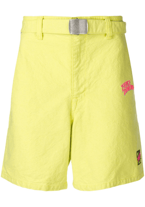 Doublet embroidered logo shorts - Green