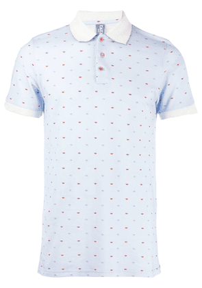 Fefè patterned polo top - Blue