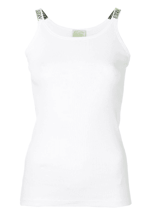 Aries ribbed vest top - White