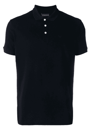 Emporio Armani classic short sleeved polo shirt - Black