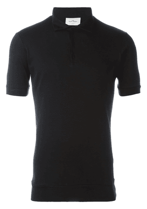 The White Briefs 'Maier' polo shirt - Black