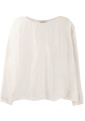 Forte Forte plain longsleeved top - Neutrals