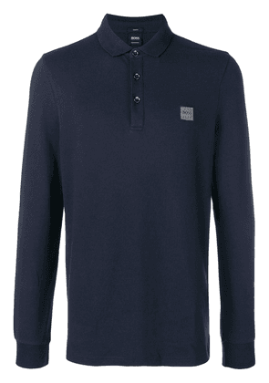 Boss Hugo Boss long sleeve polo shirt - Blue