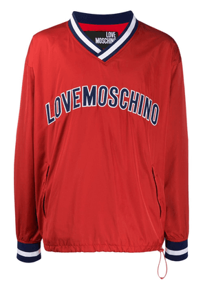 Love Moschino contrast logo jumper - Red