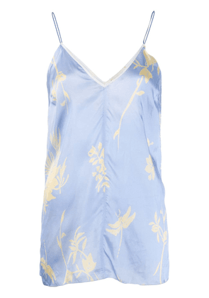 Forte Forte floral patterned cami top - Blue