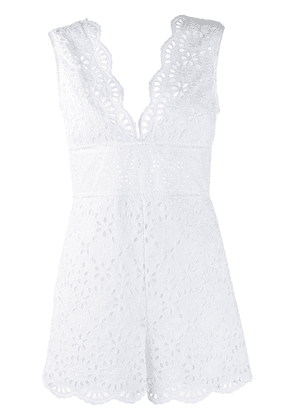 Ermanno Scervino embroidered playsuit - White