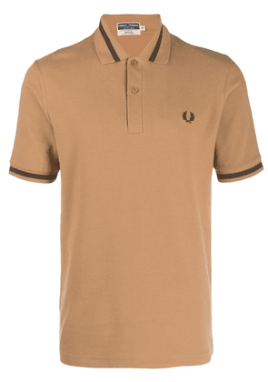 Fred Perry single tipped polo shirt - Neutrals