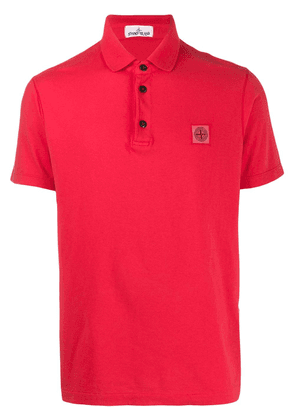 Stone Island logo patch polo shirt - Red