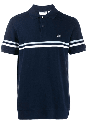 Lacoste striped logo polo shirt - Blue