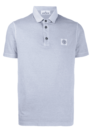 Stone Island logo patch polo shirt - Blue