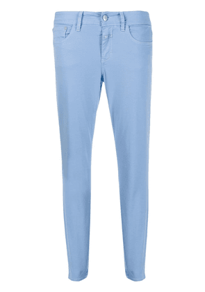 Closed cropped slim-fit jeans - Blue