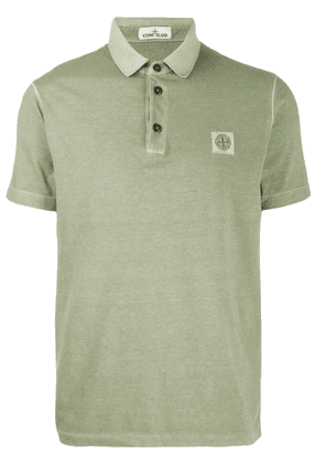 Stone Island logo patch polo shirt - Green