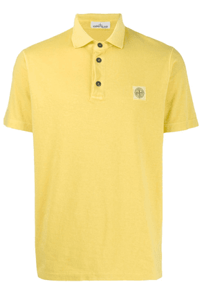 Stone Island logo patch polo shirt - Yellow