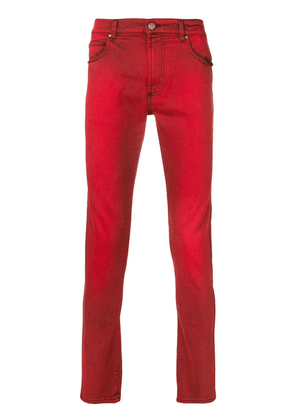 Paura low rise skinny jeans - Red