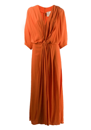 Erika Cavallini draped midi dress - Orange