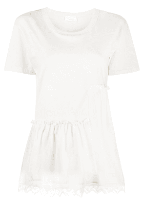P.A.R.O.S.H. lace trim T-shirt - White