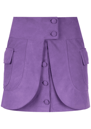 Andrea Bogosian layered leather skirt - Purple