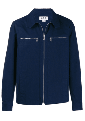 A.P.C. shirt jacket with front zip - Blue