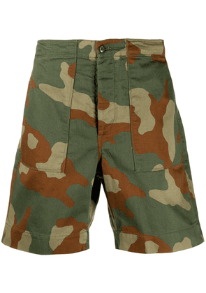 Bellerose camouflage print shorts - Green
