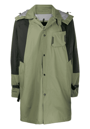 The North Face hooded raincoat - Green