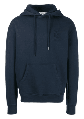 Closed logo embroidered hoodie - Blue