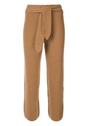 Nanushka belted ribbed knit trousers - Brown
