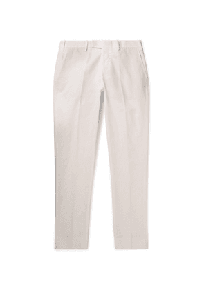 SALLE PRIVÉE - Gehry Slim-fit Cotton And Linen-blend Chinos - White