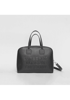 Burberry Large Leather Cube Bag, Black