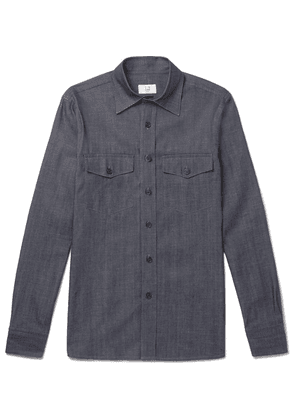 Dunhill - Slim-fit Denim Shirt - Indigo