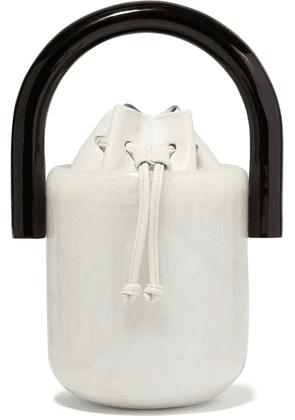 Cult Gaia - Olivia Acrylic And Leather Bucket Bag - White