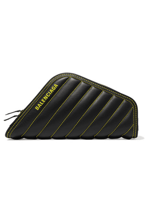 Balenciaga - Car Printed Quilted Leather Clutch - Black