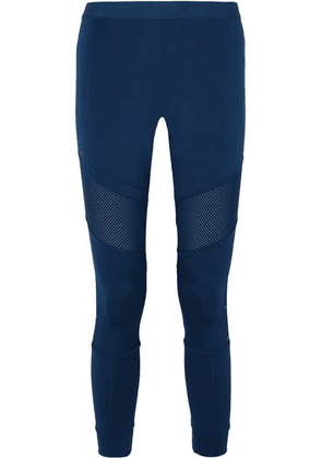 adidas by Stella McCartney - + Parley For The Oceans Essentials Mesh-paneled Climalite Leggings - Blue