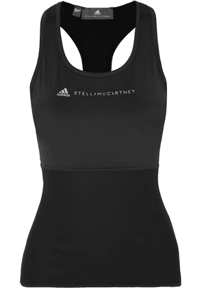 adidas by Stella McCartney - + Parley For The Oceans Essentials Mesh-paneled Stretch Tank - Black