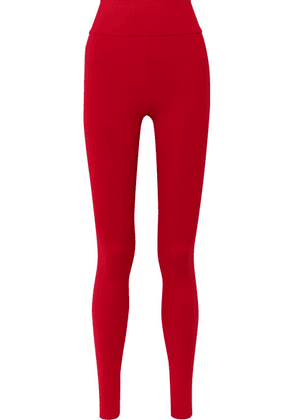 Live The Process - Tuxedo Stretch-supplex Leggings - Red
