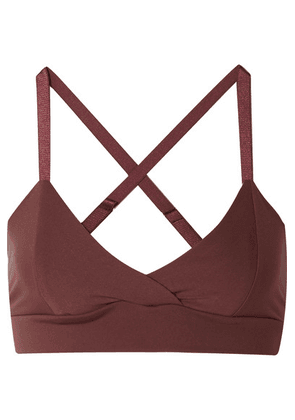 Live The Process - V Stretch-supplex Bra - Burgundy