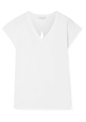 L'Etoile Sport - Performance Perforated Stretch-jersey Tennis T-shirt - White