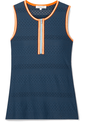 L'Etoile Sport - Stretch Pointelle-knit Tank - Navy