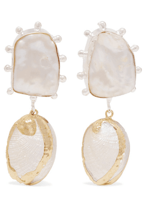 Peet Dullaert - Vaia Gold-plated, Pearl And Shell Earrings - White