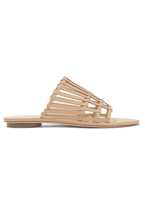 Cult Gaia - Zoe Woven Leather Sandals - Beige