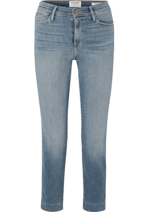 FRAME - Le High Cropped Mid-rise Slim-leg Jeans - Mid denim