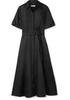 Equipment - Irenne Belted Linen Dress - Black