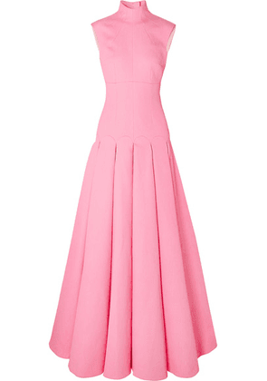 Emilia Wickstead - Kingsley Open-back Pleated Cloqué Gown - Pink