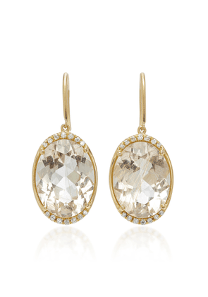 Jamie Wolf M'O Exclusive One-of-a-Kind Oval Drop Earring
