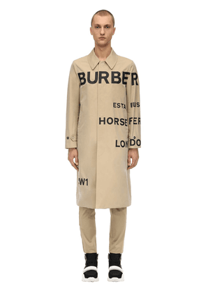 Printed Cotton Canvas Trench Coat