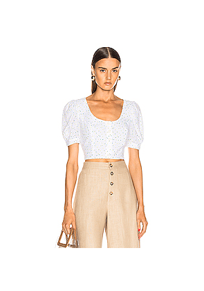 Staud Tibou Top in Abstract,White