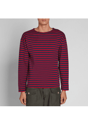 Armor-Lux 1525 Long Sleeve Loctudy Tee Navy & Red